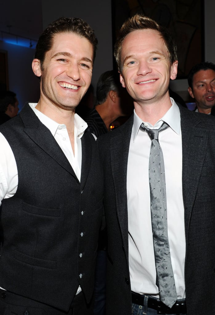 Matthew Morrison and Neil Patrick Harris smiled together at an Audi afterparty in Indiana for Super Bowl 2012.