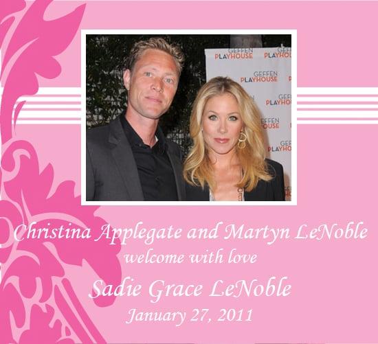 Christina Applegate Has a Baby Girl