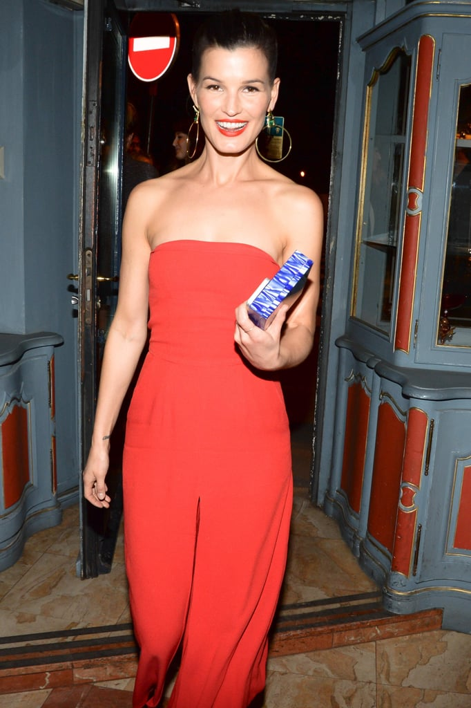 A well-accessorized Hanneli Mustaparta stepped out from the Eddie Borgo dinner.