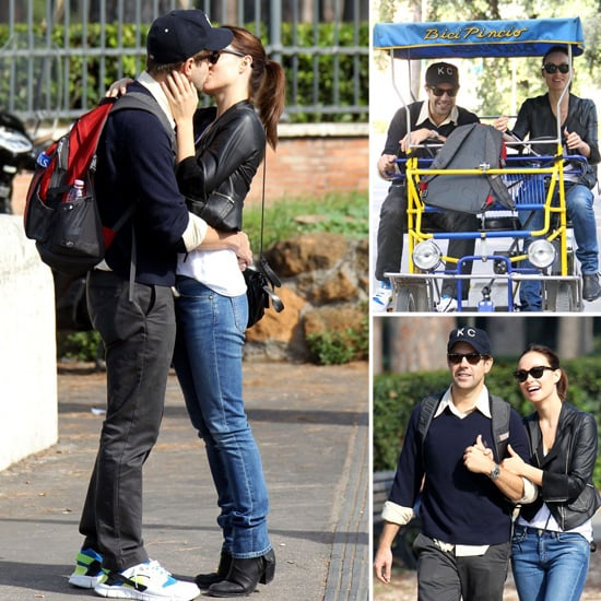 Olivia Wilde and Jason Sudeikis Get Romantic in Rome With PDA