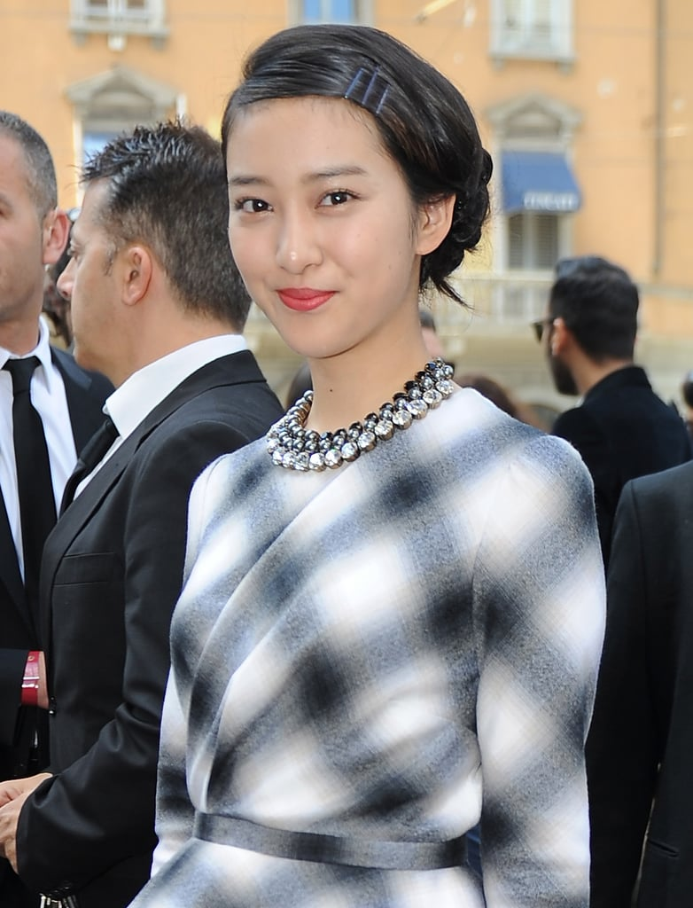 Take a style cue from Emi Takei and match your hair accessory to your outfit. If you can't find bobbies in your coordinating color, just touch up regular pins with spray paint.