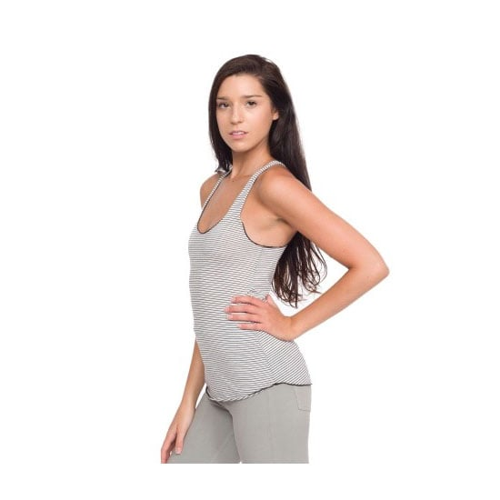 A classic striped tank will separate you from the fluoro-wearing teens. Tank, $51, American Apparel