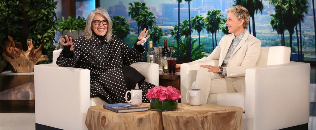 "Diane Keaton Plays ""Who'd You Rather?"" on Ellen, Hints She May Have Had a Fling With Leonardo DiCaprio"