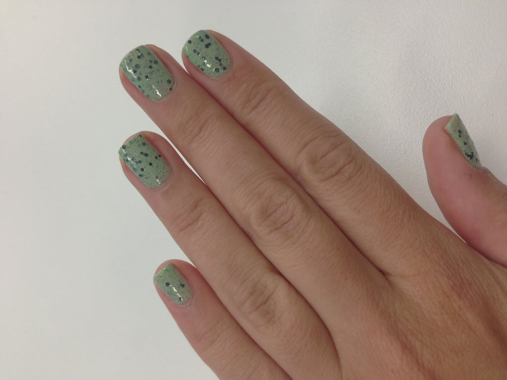 I went for Mottle. This is two, thin coats. Cute, no?!