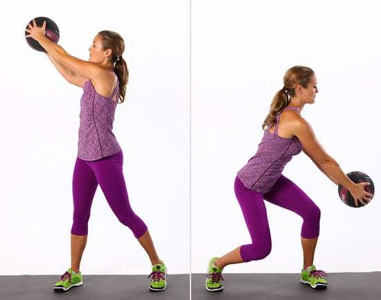Twisting Wood Chop With Medicine Ball
