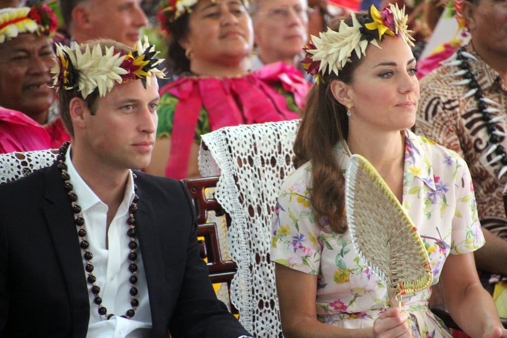 Kate Middleton and Prince William were treated to a goodbye ceremony in Tuvalu.