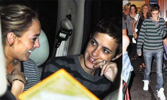 Photos of Lindsay Lohan, Samantha Ronson, Dina Lohan, Ann-Dexter Jones at Bar Pitti in NYC