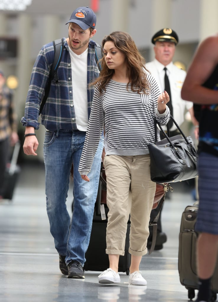 Mila Shows Off Her Baby Bump on a Sweet Trip With Ashton