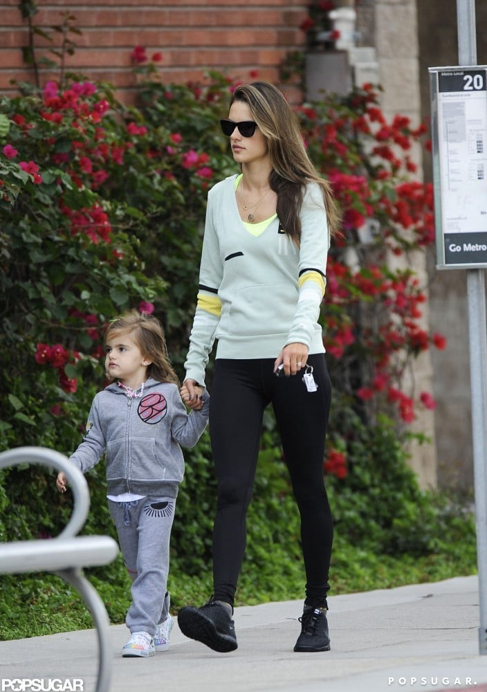 Alessandra Ambrosio and Anja Wear Workout Gear For a Girls' Day