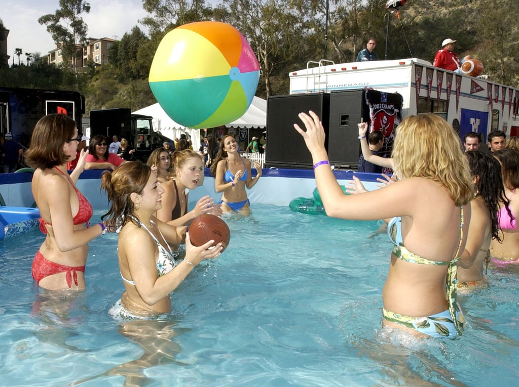 There was an actual pool party when San Diego hosted again in 2003.