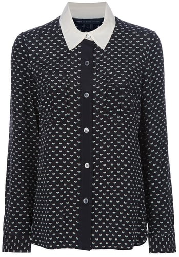 Marc By Marc Jacobs heart print blouse