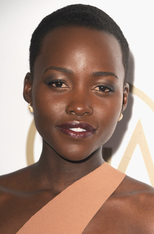Lupita Nyong'o was fresh-faced.