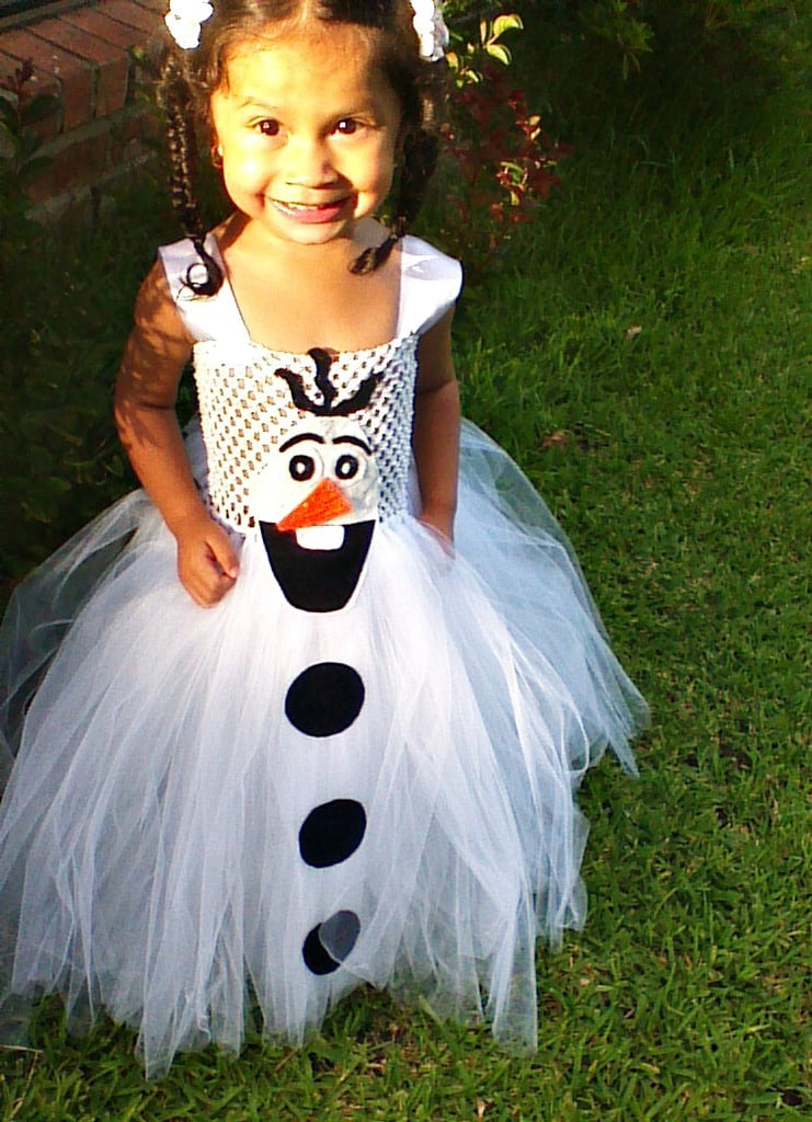 If your daughter loves goofy snowmen and shiny sparkles, this Olaf tutu costume ($46) is her perfect handmade Halloween outfit.