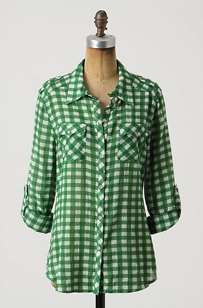 We love gingham in a candy-colored shade, like this — a dead-ringer for the brightly hued checks spotted in D&G's Spring '11 lineup.   Cisssus Gingham Button-Down ($88)