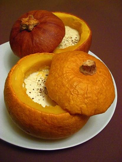 52 Weeks of Baking: Baby Pumpkins with Garlic Custard
