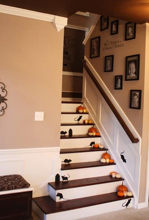 Halloween Staircase Decor