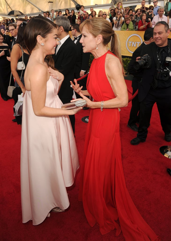 Sarah Hyland caught up with Holly Hunter.