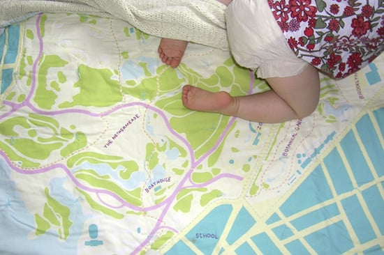 City Map Baby Blankets