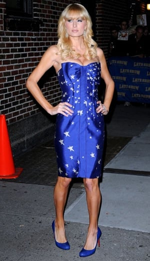 Paris Hilton in Star Spangled Tracy Reese: Love It or Hate It?