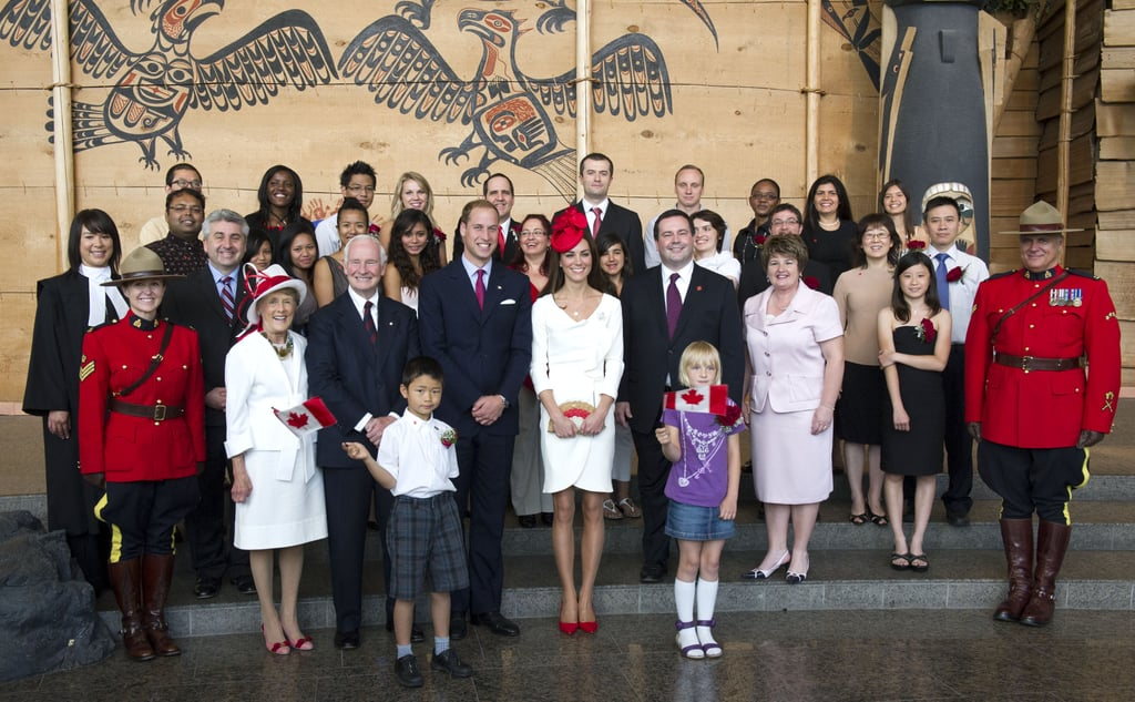 Prince William and Kate Middleton posed with Canadians.