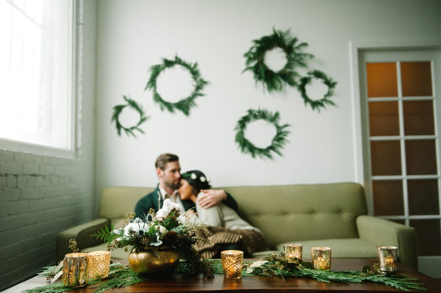Decorate With Wreaths and Gold Accents