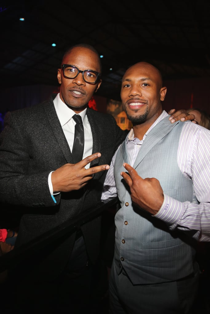 Jamie Foxx posed for pictures at a Super Bowl party presented by Patron Tequila on Friday night in New Orleans.