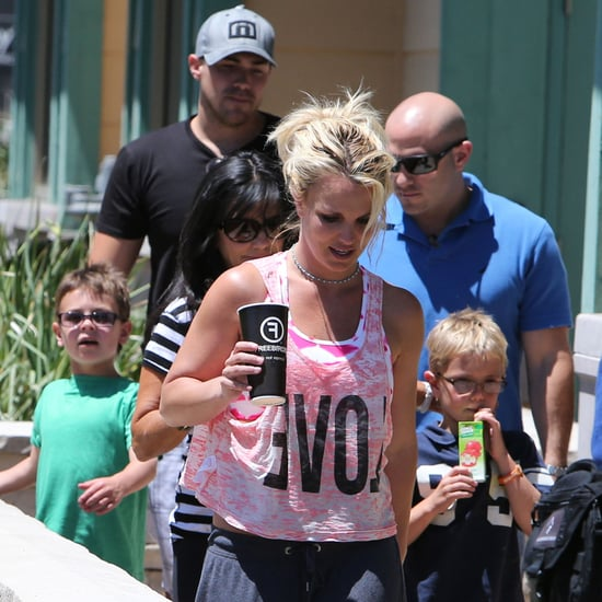 Britney Spears and Her Boyfriend With Their Kids