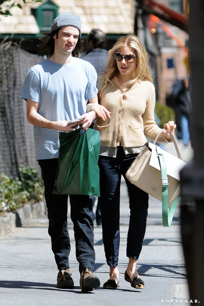 Tom Sturridge and Sienna Miller walked to lunch together in NYC.