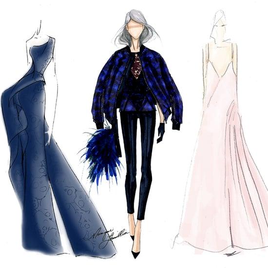 Fall 2014 New York Fashion Week Designer Sketches