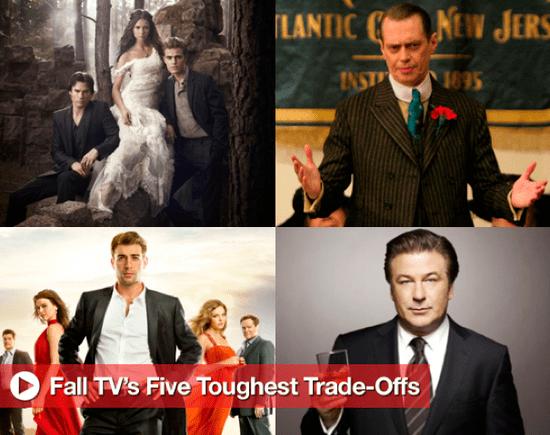 Sugar Shout Out: Fall TV Showdown: 5 Toughest Trad-Offs