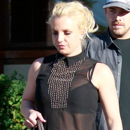 Britney Spears in See-Through Shirt Out in LA