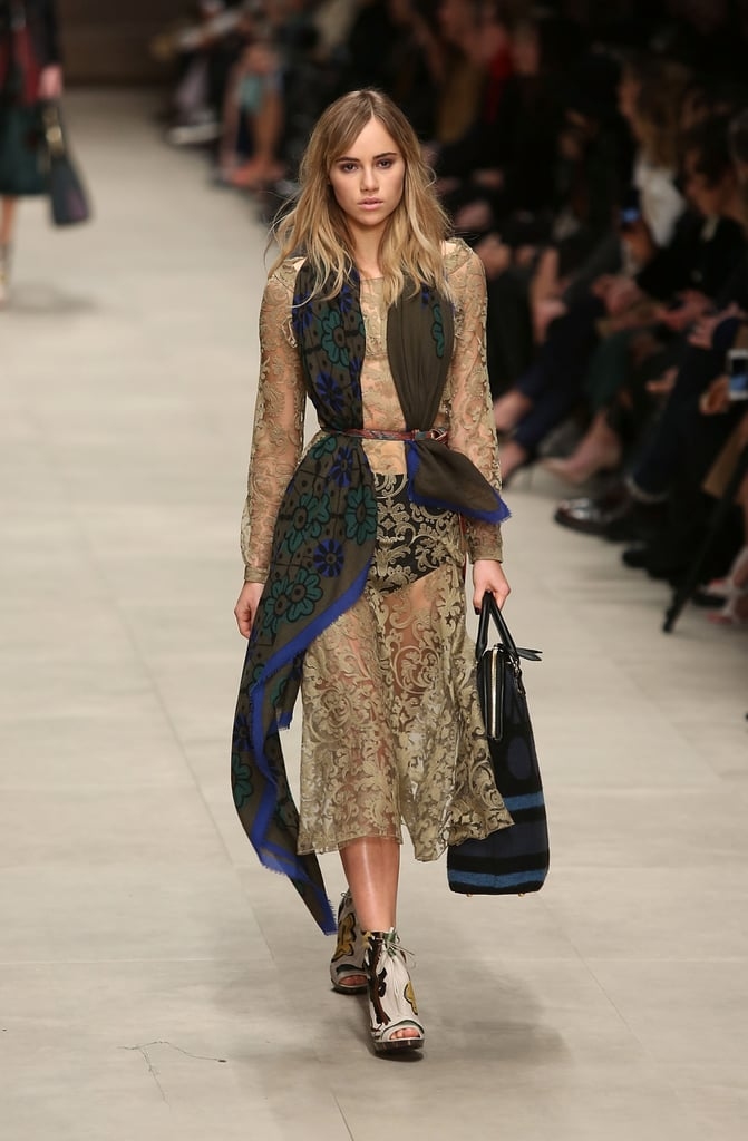 Suki Waterhouse walked the runway.
