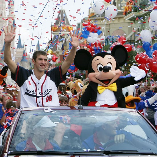 Photo of Michael Phelps and Mickey Mouse at Disney World