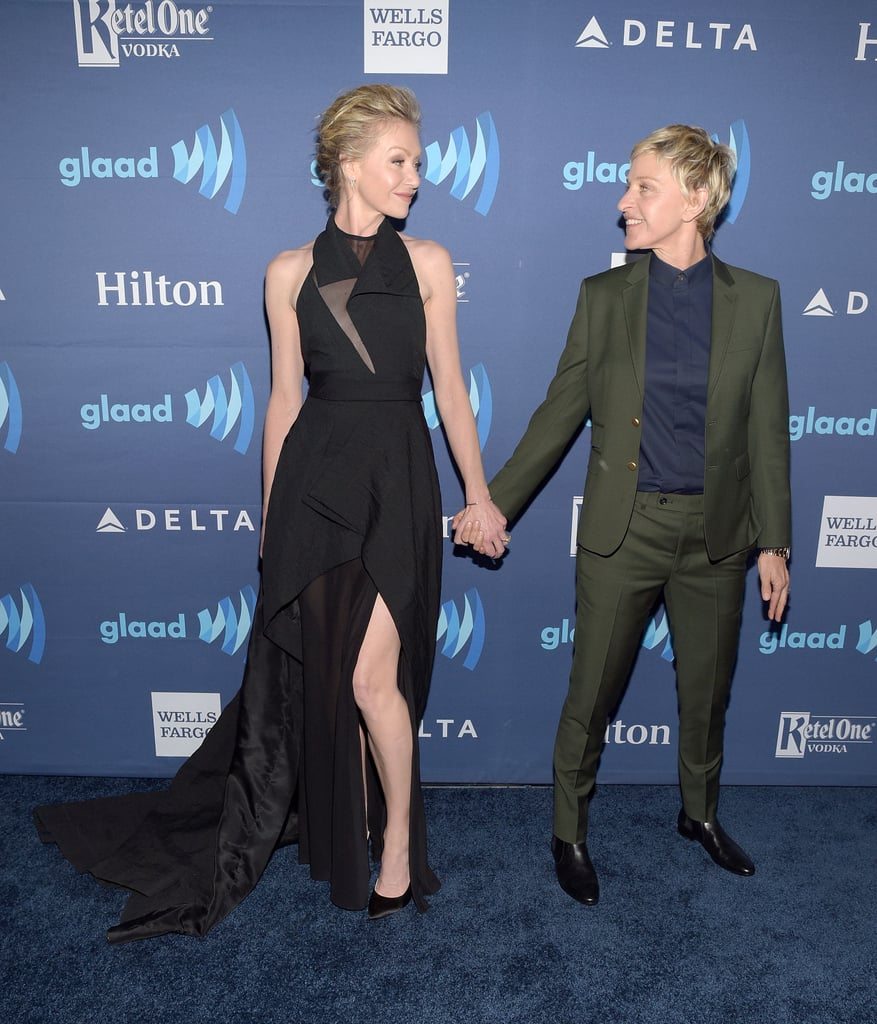 Ellen and Portia could not keep their eyes off each other at the GLAAD Media Awards in March 2015.
