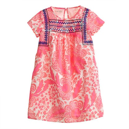 Crewcuts Floral Embroidered Dress