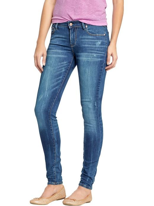 Every girl needs her skinny jeans, like Old Navy's Rockstar mid-rise distressed jeans ($40).