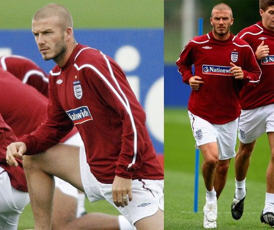 Photos of David Beckham Training in London 2008-10-07 15:30:59