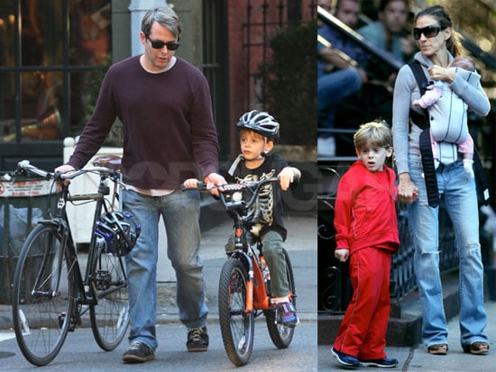 Photos of Sarah Jessica Parker, Matthew Broderick, James Wilkie Broderick and One of Her Twin Girls