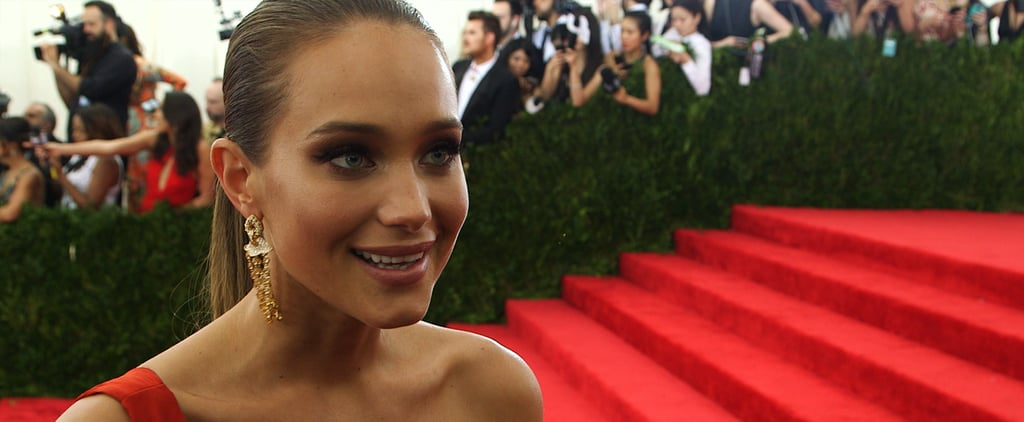 """Sports Illustrated Star Hannah Davis Was """"Trying to Look Pretty"""" at Her First Met Gala"""