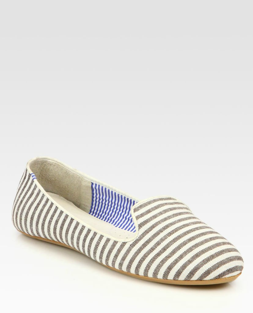 We can easily see these Charles Philip Shanghai Tropez Striped Smoking Slippers ($101, originally $135) becoming our Summer shoe staple.