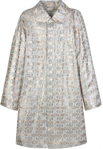 Marc Jacobs METALLIC FLORAL PRINT COAT