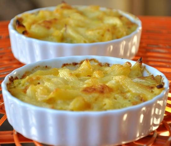 Mac Attack! Leeks and Sharp Cheddar Mac and Cheese