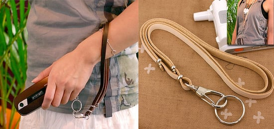 Totally Geeky or Geek Chic? Leather Cell Necklace/Strap