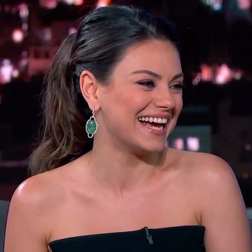Mila Kunis Talks Diapers on Jimmy Kimmel Live