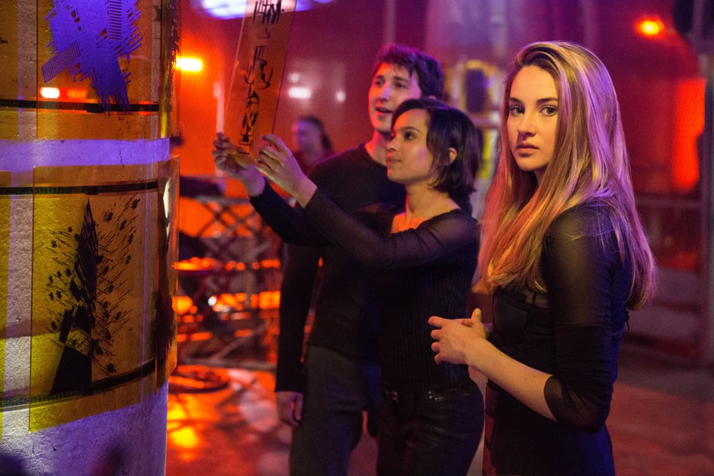 Tris tries to fit in with the Dauntless crowd.