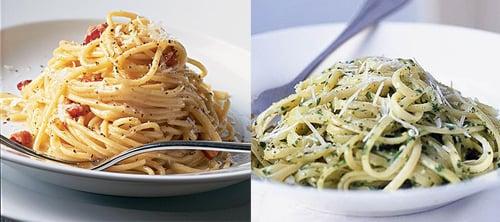 Would You Rather Eat Carbonara Or Pesto Pasta?