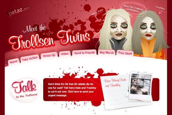 "Fab Flash: Has PETA Gone Too Far With The ""Trollsen Twins?"""