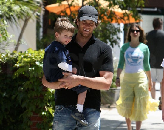 Slide Picture of Tom Brady and Jack Moynahan in LA