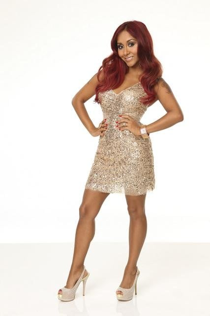 "Nicole ""Snooki"" Polizzi  How you know her: She's the infamous Jersey Shore star who recently became a mom. Her DWTS stereotype: The competitor who argues with the judges. Her partner: Sasha Farber"