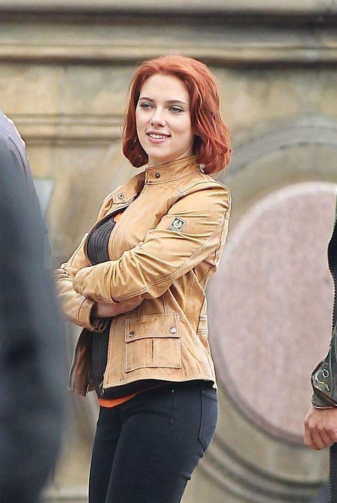 Scarlett Johansson was in NYC to shoot.